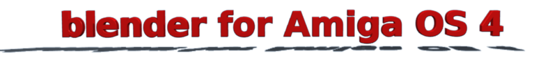 Blender For AmigaOS 4.1