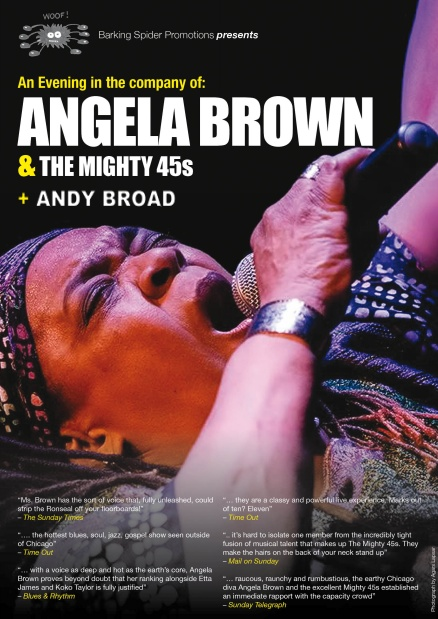 Angela Brown & The Mighty 45s + Andy Broad